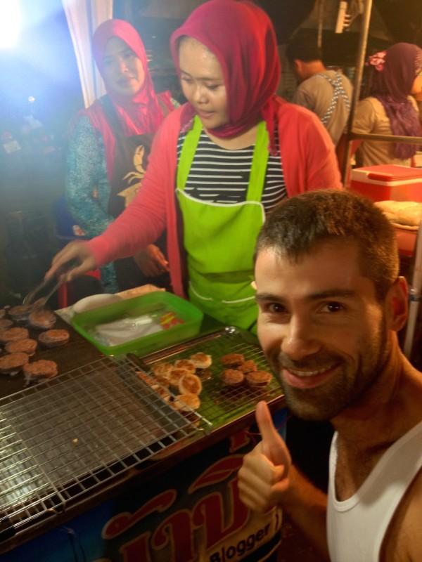 street food in thailand - Sticky rice prizes in the Krabi night market