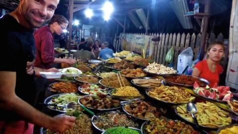Street food in Luang Prabang