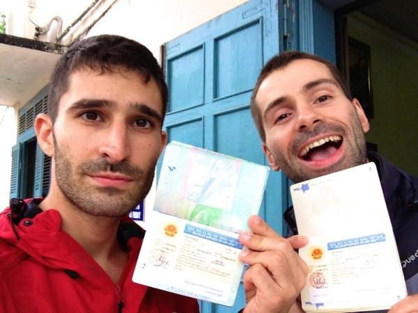 Vietnam visa in Luang Prabang selfie