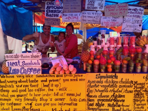Our favourite baguette stall in Luang Prabang's night market