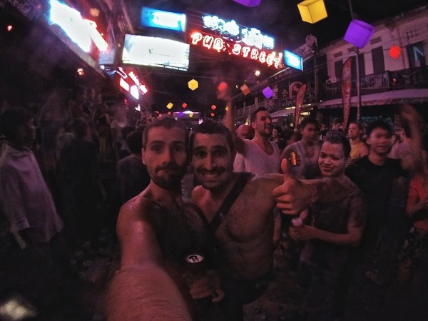 Siem Reap gay scene on Pub Street during the Buddhist New Year