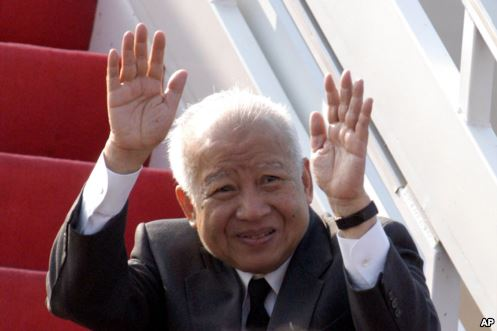 The former King of Cambodia