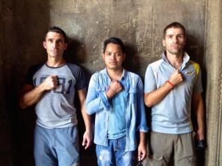 Gay guys at Angkor Wat temple