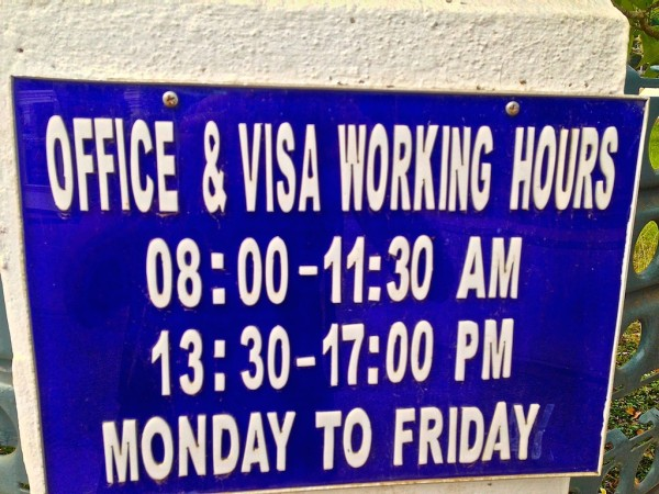 Opening hours of the Vietnamese Embassy