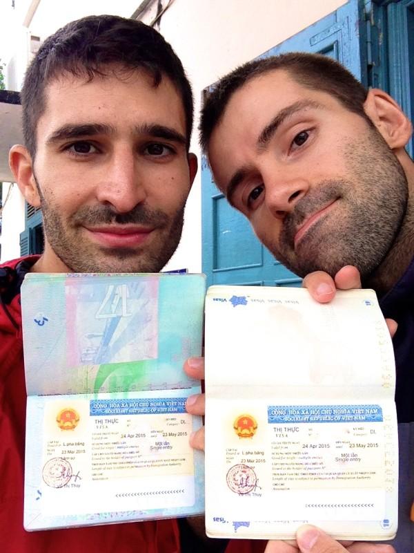 Our Vietnamese visa selfie