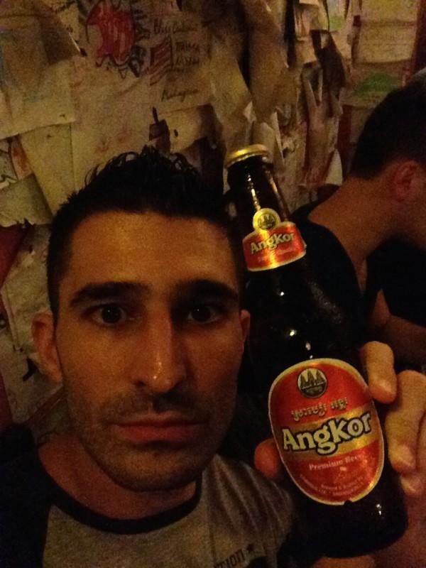 Stefan's Angkor beer selfie