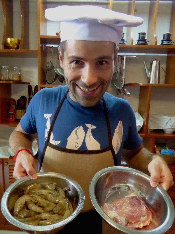 Sebastien making Banh Xeo in Hoi An