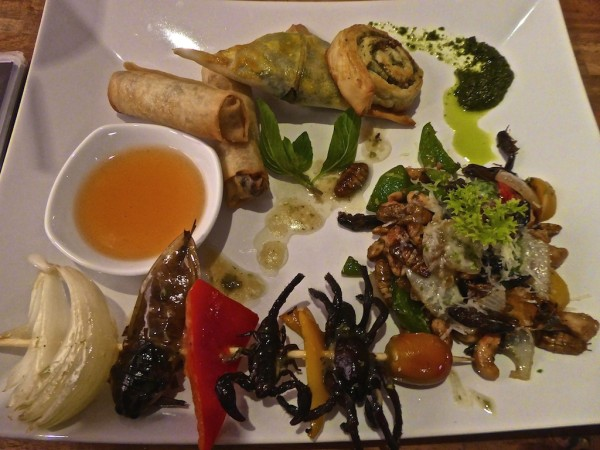The taster platter at the BUGS Cafe in Siem Reap