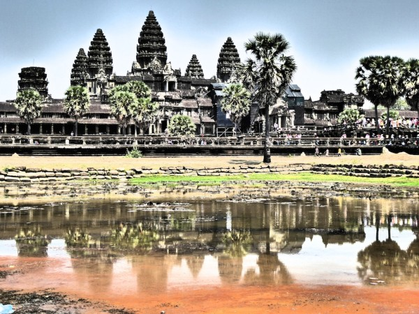 Angkor Wat reflection in the nearby pond