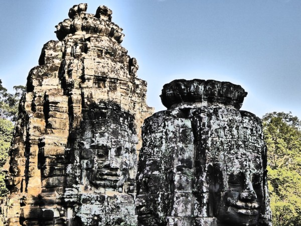 The faces of the Bayon temple