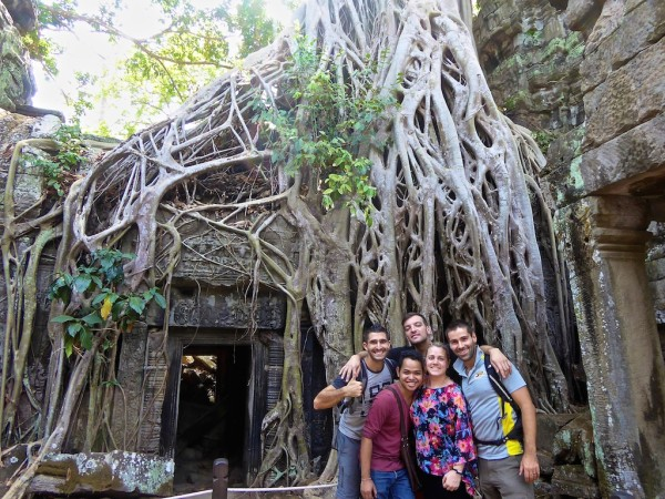 Cambodia travel video: group photos at Ta Prohm