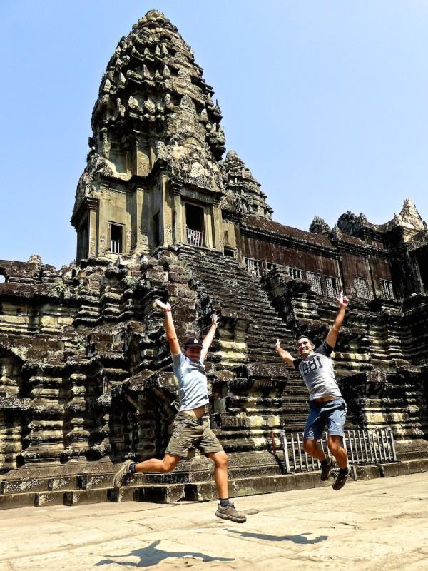 Our Angkor Wat jumping photo