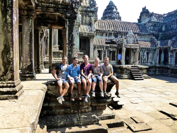 Our group photo inside Angkor Wat