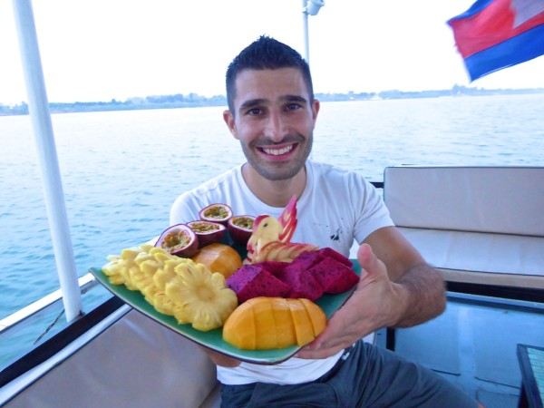 Stefan with fruit bowl