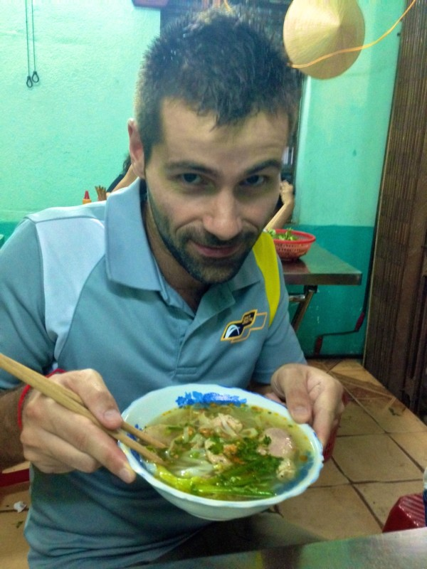 Sebastien's first Pho in Saigon