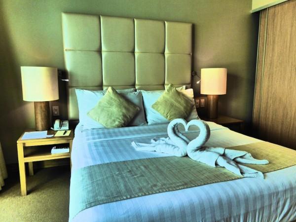 Our room at Villa Caemilla