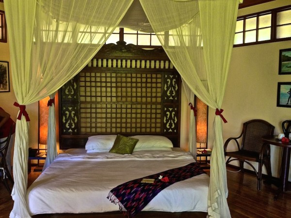 Our bedroom area in our garden villa at Mandala Spa