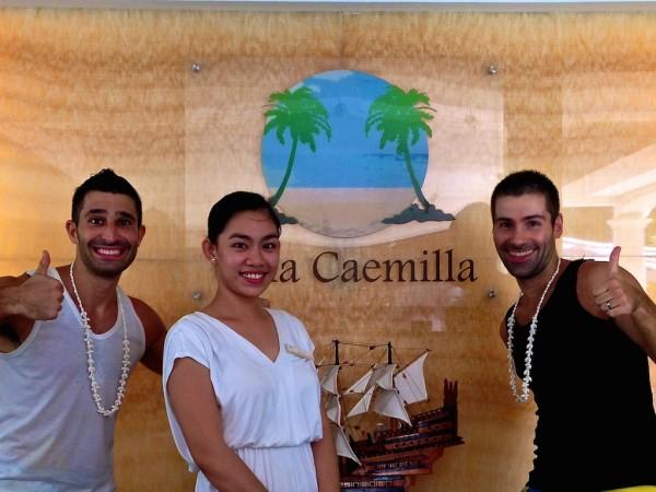Nomadic Boys with Villa Caemilla staff