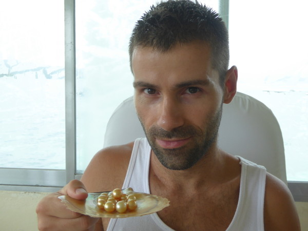 Sebastien at the pearl farm