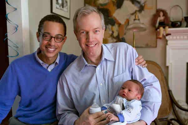 gay Saigon Gay ambassador Ted Osius with husband and baby