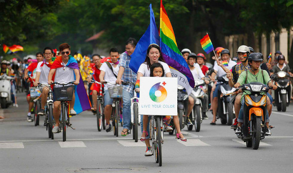 gay events in saigon The Viet Pride bike rally in Hanoi