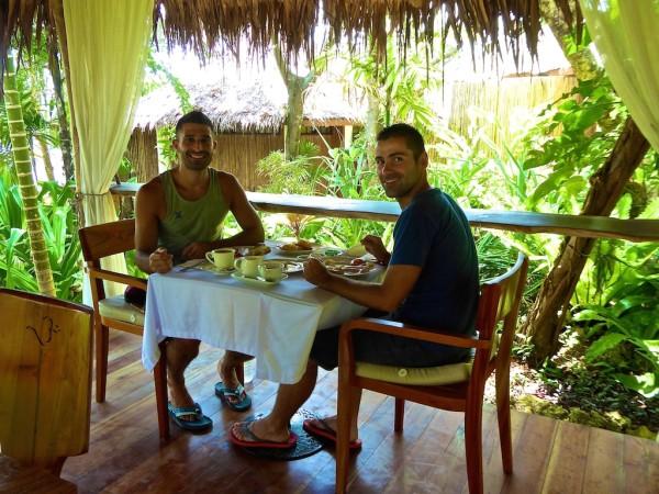 Breakfast table at Mandala Spa