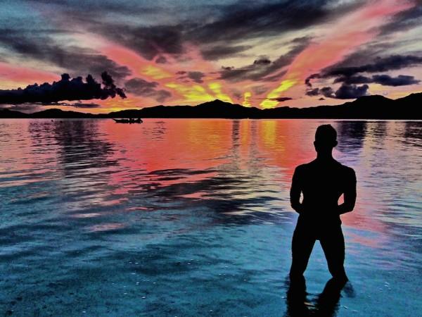 Stefan admiring another stunning sunset