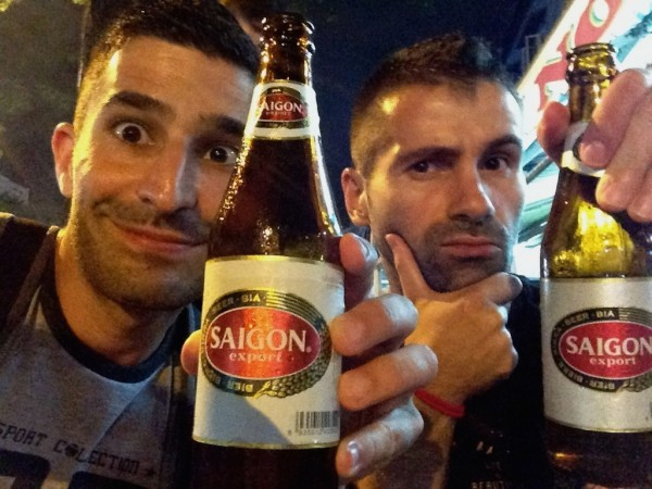 Our Saigon beer selfie