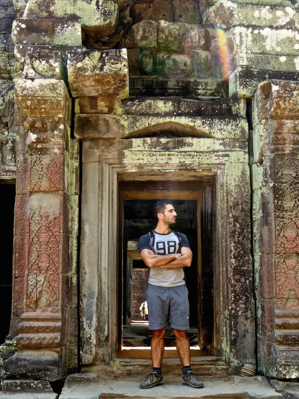 Stefan's Angelina pose at Ta Prohm
