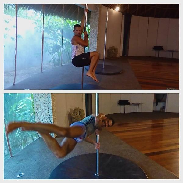 Pole dancing at Mandala Spa