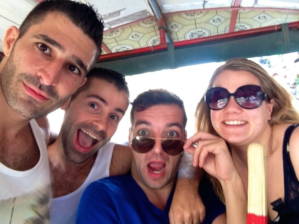 Our tuk tuk selfie