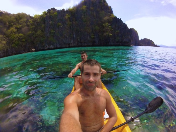 Kayaking around El Nido at The Big Lagoon