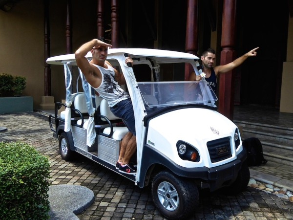 Nomadic Boys with Four Seasons Langkawi buggy