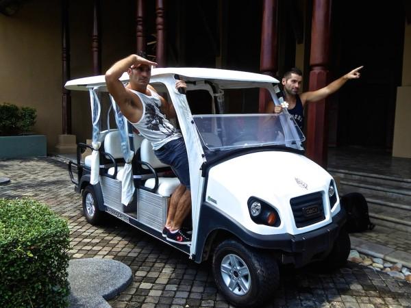 Nomadic Boys with Four Seasons Langkawi buggy