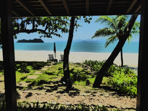 Beach villa balcony view