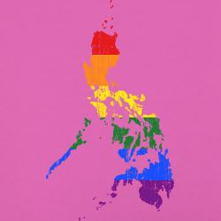 Rainbow map of the Philippines