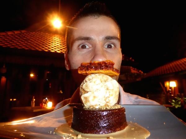 Sebastien with honeycomb cake