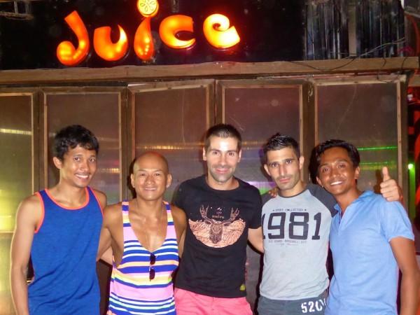 Drinks at Juice gay bar Boracay