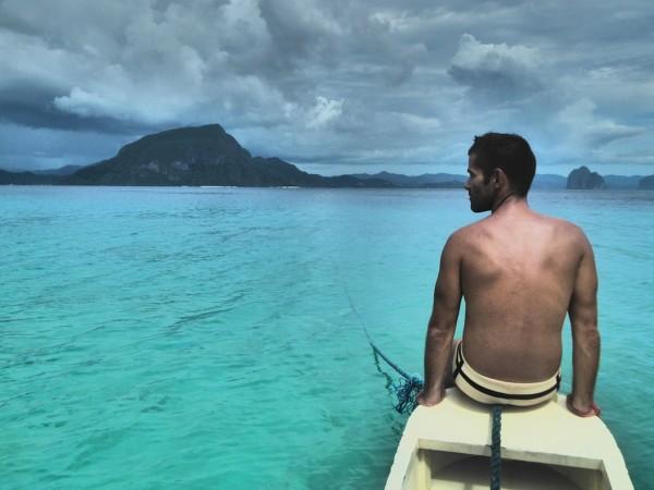Seb preparing for island tour kayaking around El Nido