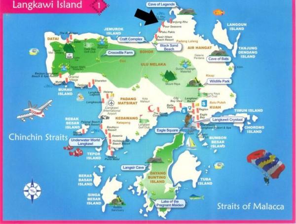 Map of Langkawi island