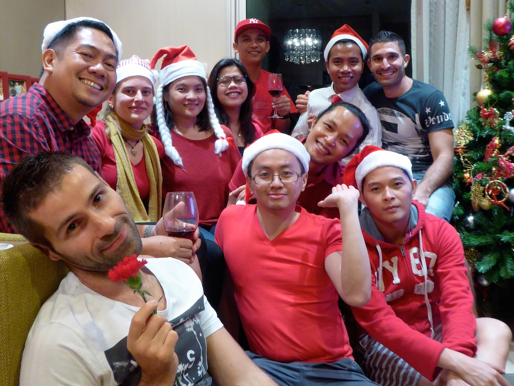 Gay friendly Philippines Pinoy Xmas party with Patrick in Bangkok