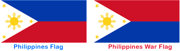 The unique Filipino flag