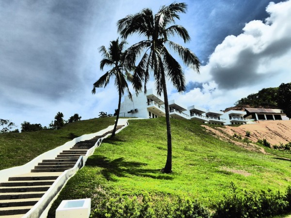 The climbs to the rooms at Resort Bay View