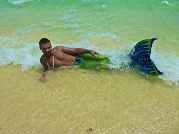 Birthday boy Seb at mermaid school Boracay