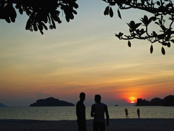 Sunset on Four Seasons beach