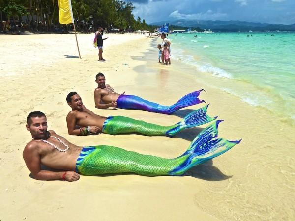 Learning to swim like mermaids Boracay