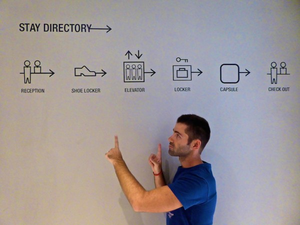 Check in process wall sign