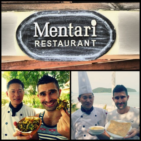 Mentari restaurant at the frangipani resort on langkawi