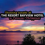 sunset at the resort bayview hotel in palawan