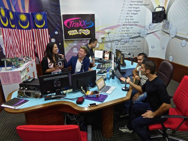 That time we were interviewed on Malaysian National Radio: TraXX FM